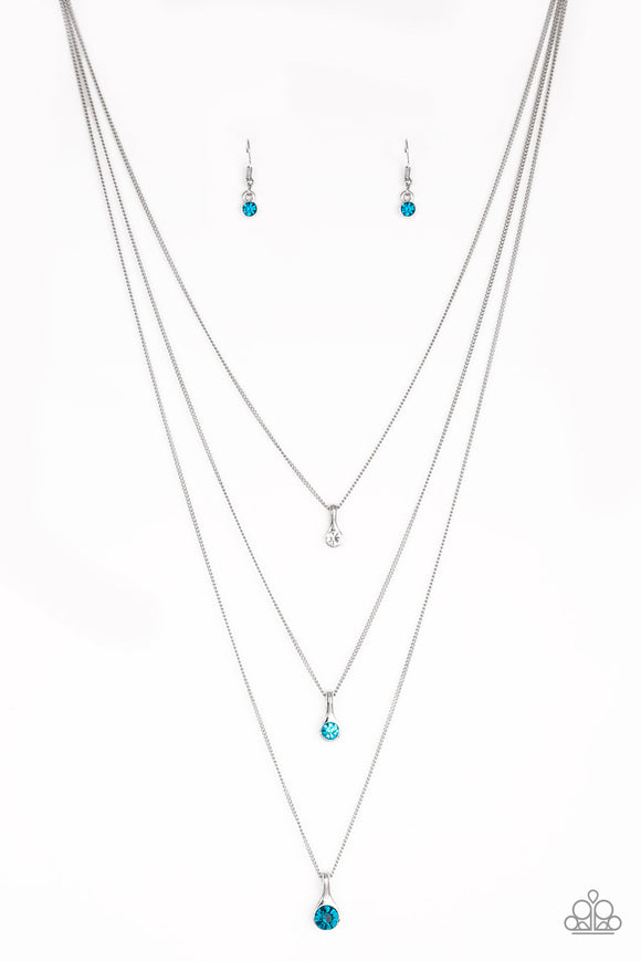 Crystal Chic Blue Necklace - Paparazzi Accessories