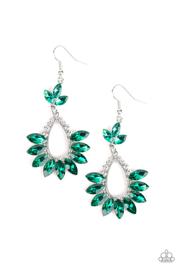 Extra Exquisite Green Earring - Paparazzi Accessories