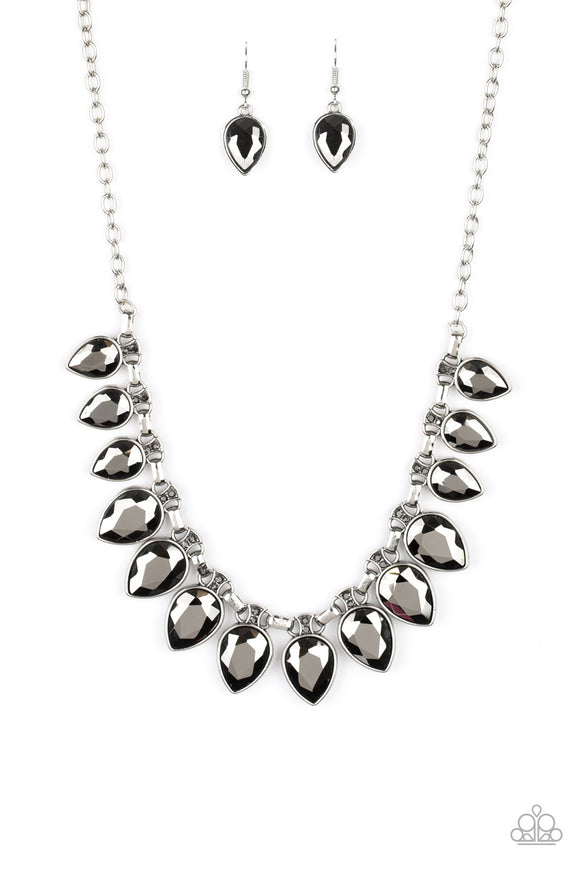 FEARLESS is More Silver Necklace - Paparazzi Accessories