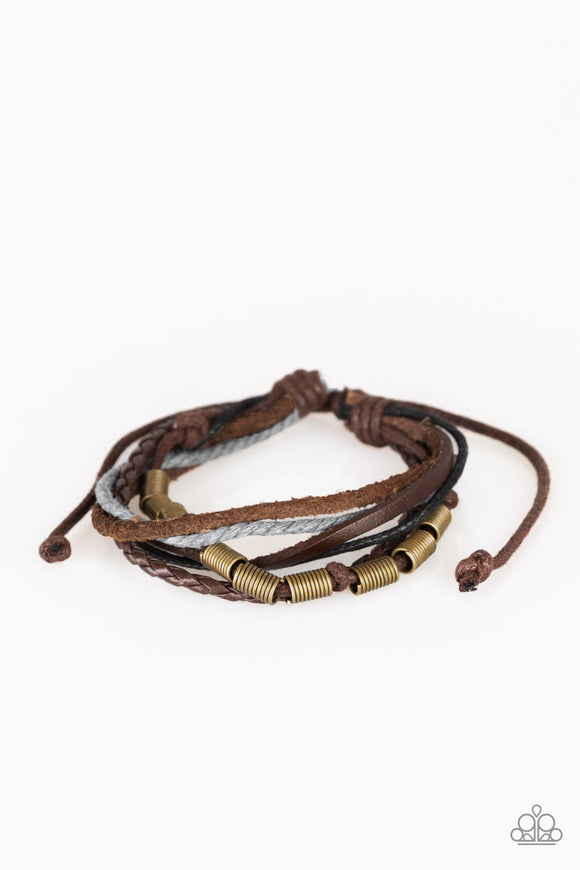 Forest Front Runner Brown Urban Bracelet - Paparazzi Accessories