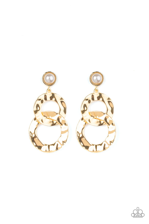 On Scene Gold Earring - Paparazzi Accessories