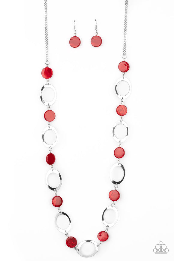 SHELL Your Soul Red Necklace - Paparazzi Accessories