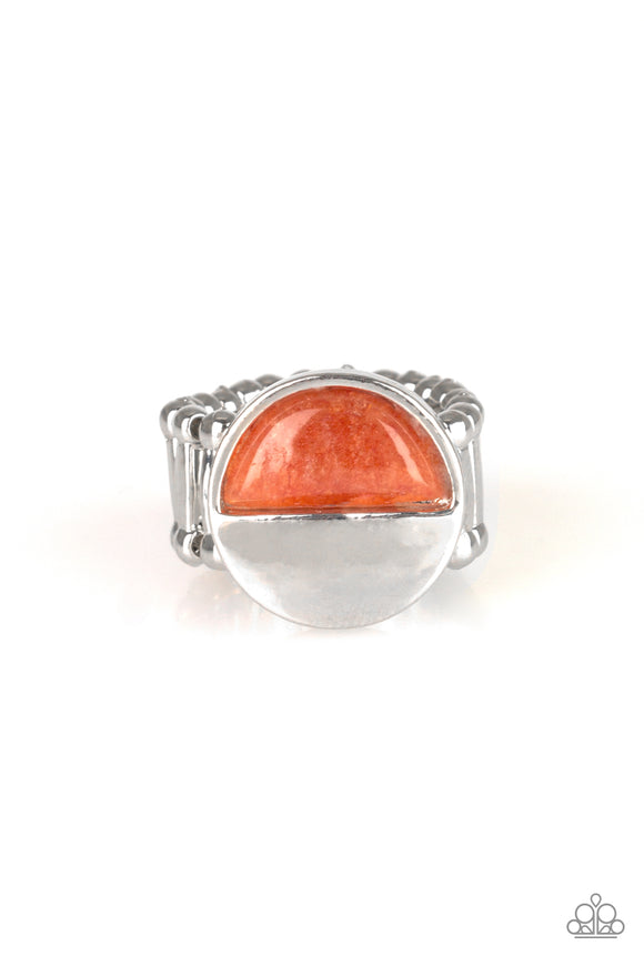 Stone Seeker Orange Stone Ring - Paparazzi Accessories