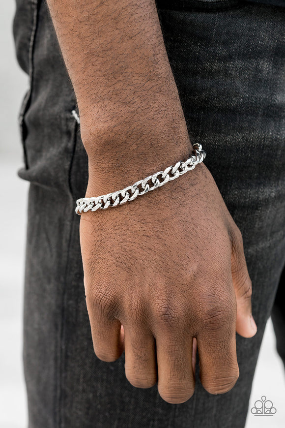 Take It To The Bank Silver Urban Bracelet - Paparazzi Accessories - jazzy-jewels-gems