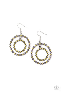 Vibrant Venture Yellow Earring - Paparazzi Accessories