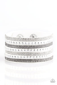 Victory Shine White Wrap Bracelet - Paparazzi Accessories