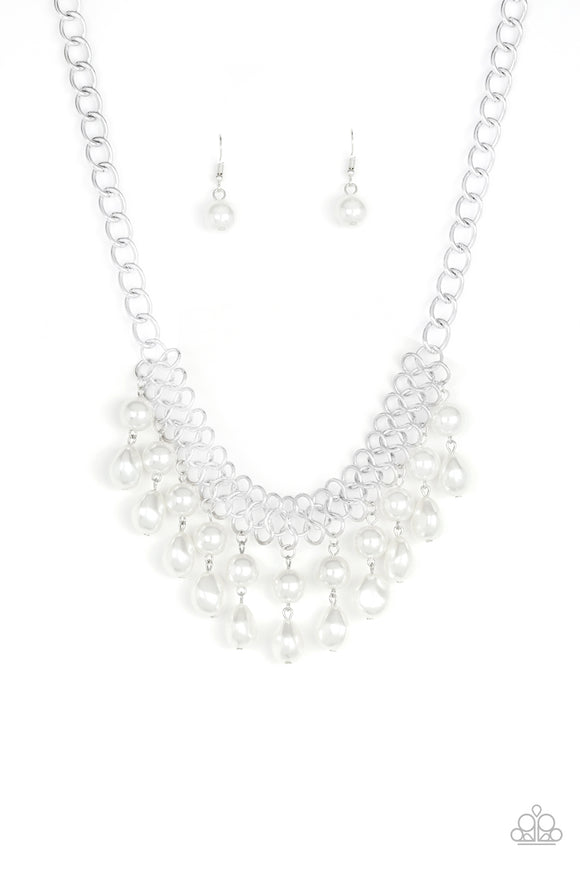 5th Avenue Fleek White Necklace - Paparazzi Accessories