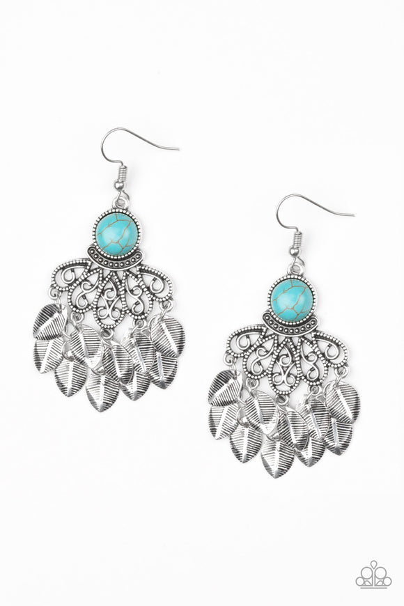 A Bit On The Wildside Blue Earring - Paparazzi Accessories