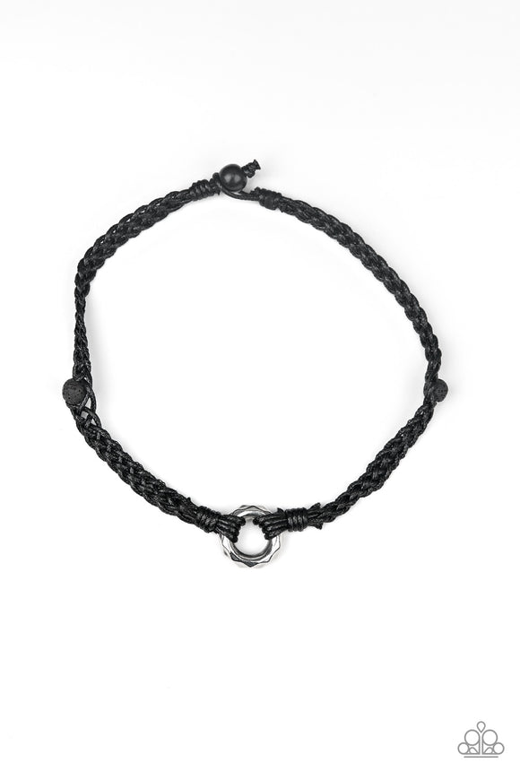 Basic Backpacker Black Urban Necklace - Paparazzi Accessories