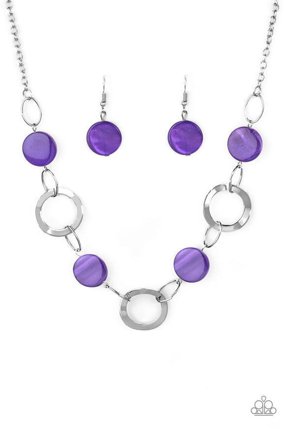 Bermuda Bliss Purple Necklace - Paparazzi Accessories