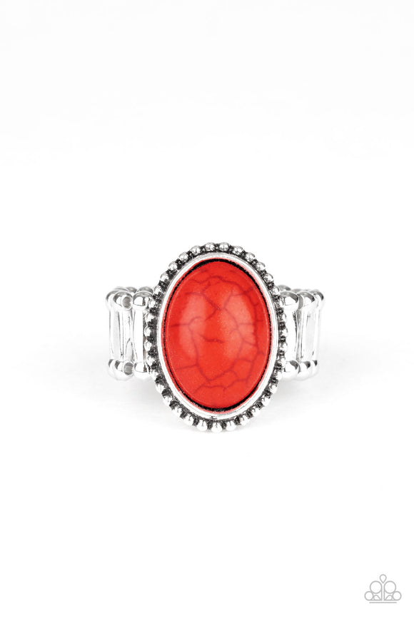Bountiful Deserts Red Ring - Paparazzi Accessories