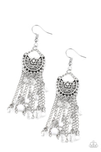 Daisy Daydream White Earring - Paparazzi Accessories