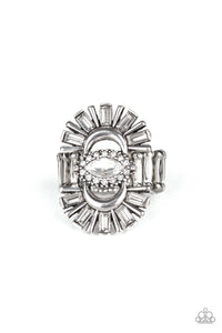 Deco Diva White Ring - Paparazzi Accessories