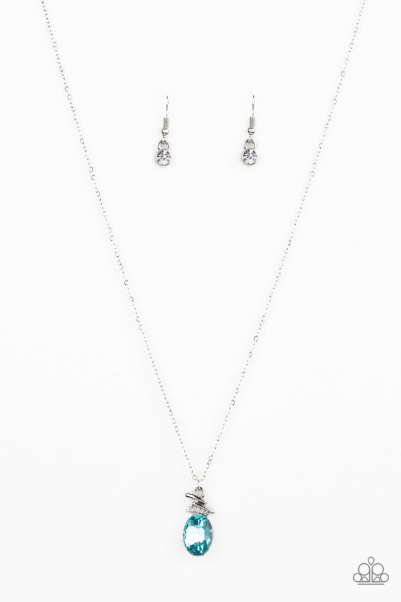 Diamonds For Days Blue Necklace - Paparazzi Accessories