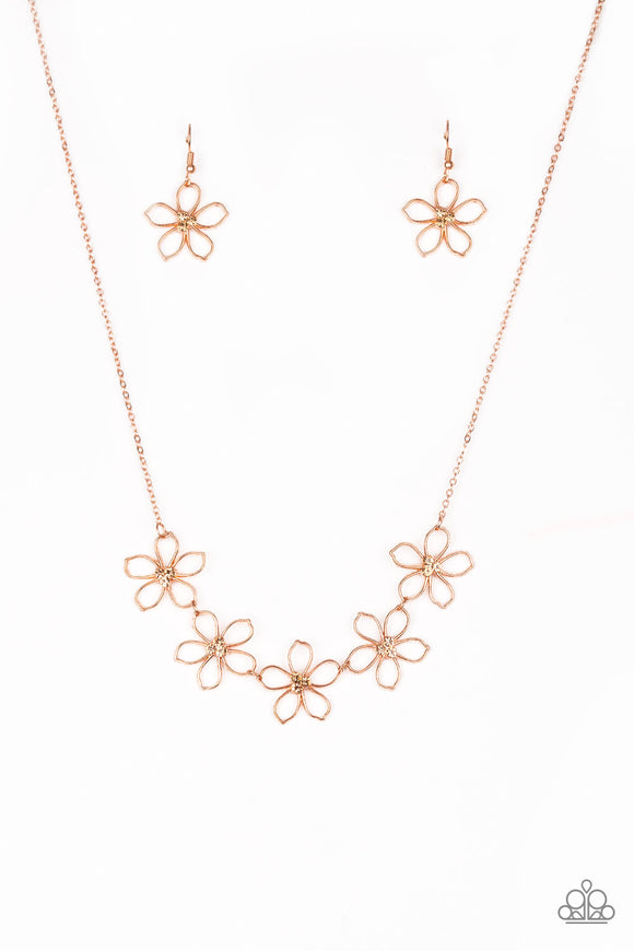 Hoppin Hibiscus Copper Necklace - Paparazzi Accessories