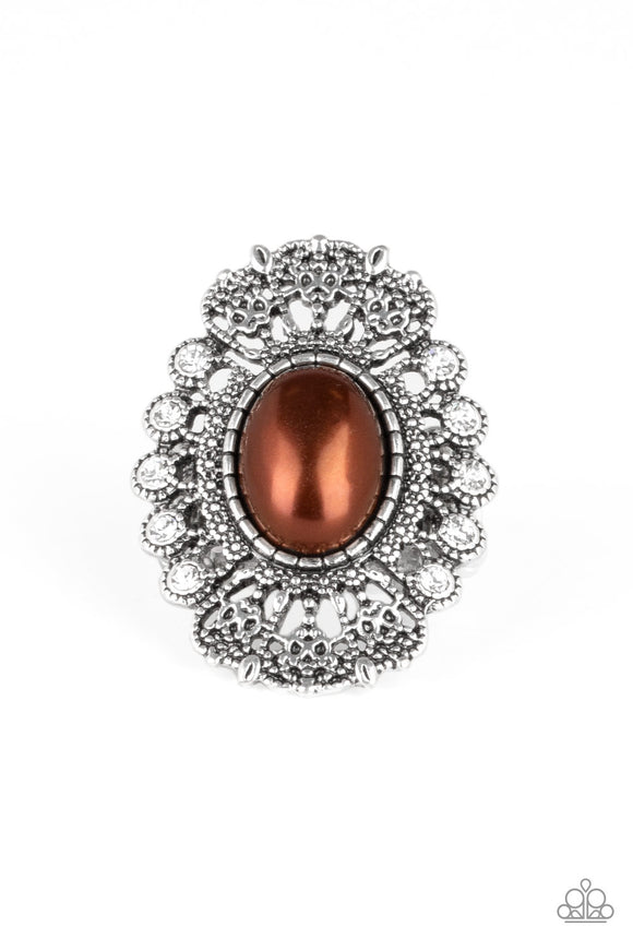 Radiantly Regal Brown Ring - Paparazzi Accessories