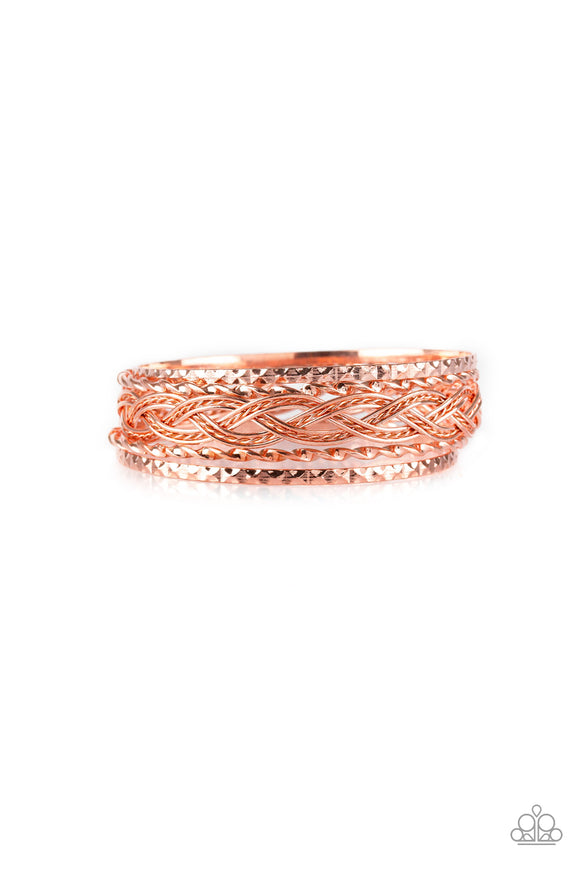 Straight Street Copper Bracelet - Paparazzi Accessories