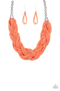 The Great Outback Orange Seed Bead Necklace - Paparazzi Accessories