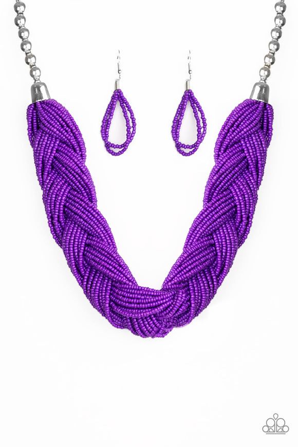 The Great Outback Purple Seed Bead Necklace - Paparazzi Accessories