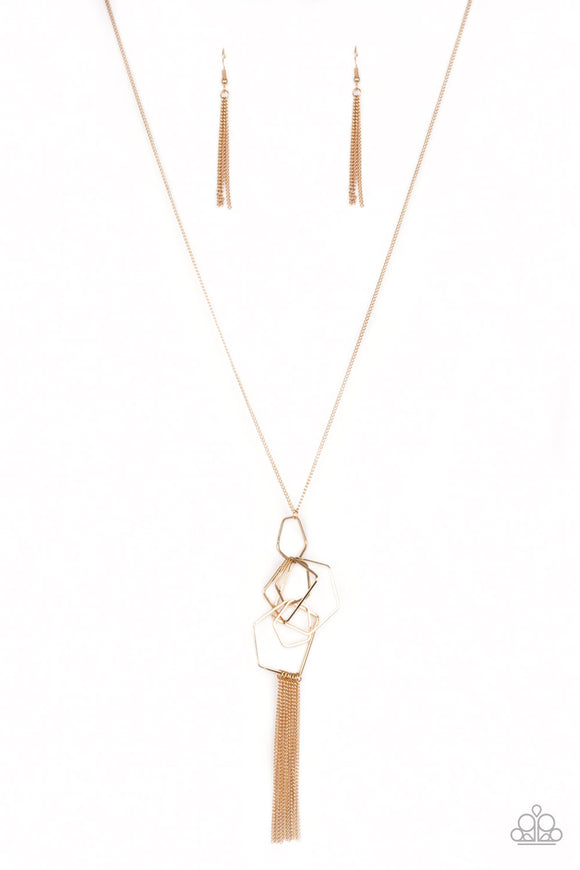 The Penthouse Gold Necklace - Paparazzi Accessories