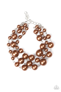 Until The End Of TIMELESS Brown Pearl Bracelet - Paparazzi Accessories