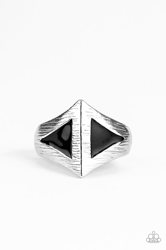 Crusader Black Ring - Paparazzi Accessories
