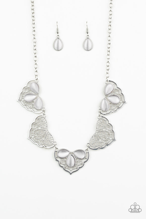 East Coast Essence White Necklace - Paparazzi Accessories