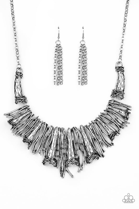 In The MANE-stream Silver Necklace - Paparazzi Accessories