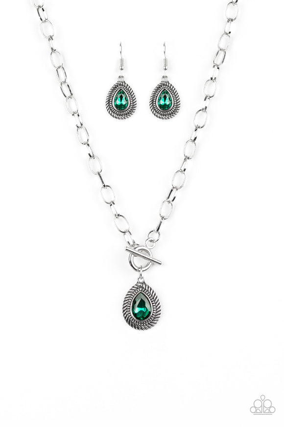 Sheen Queen Green Necklace - Paparazzi Accessories