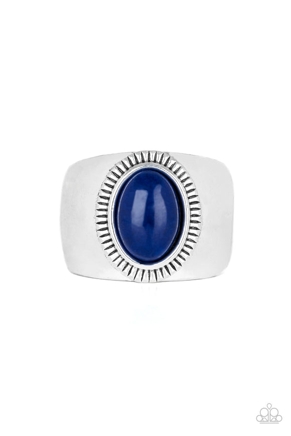 The Prospector Blue Urban Ring - Paparazzi Accessories