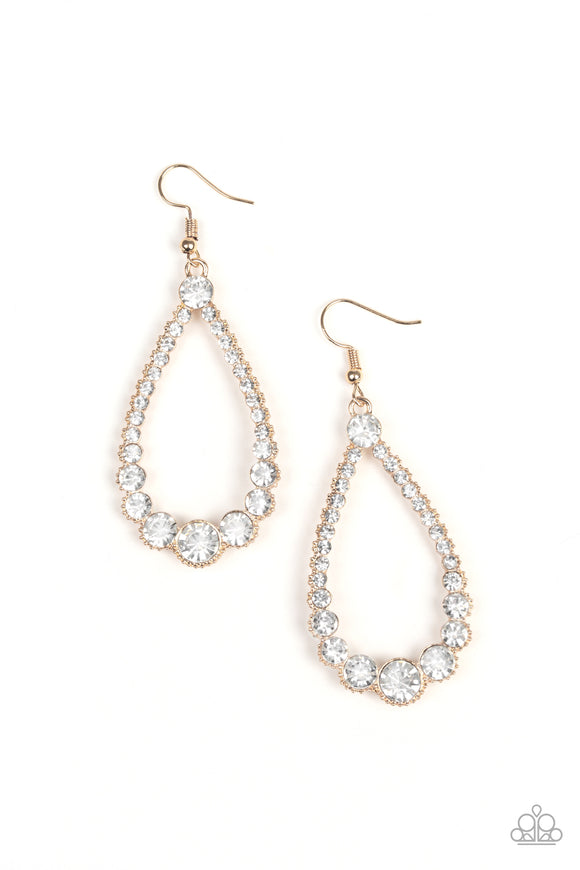 Token Twinkle Gold Earring - Paparazzi Accessories