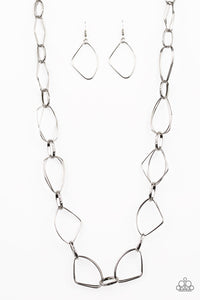 Attitude Adjustment Silver Necklace - Paparazzi Accessories
