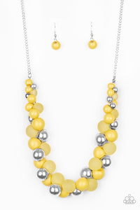 Bubbly Brilliance Yellow Necklace - Paparazzi Accessories