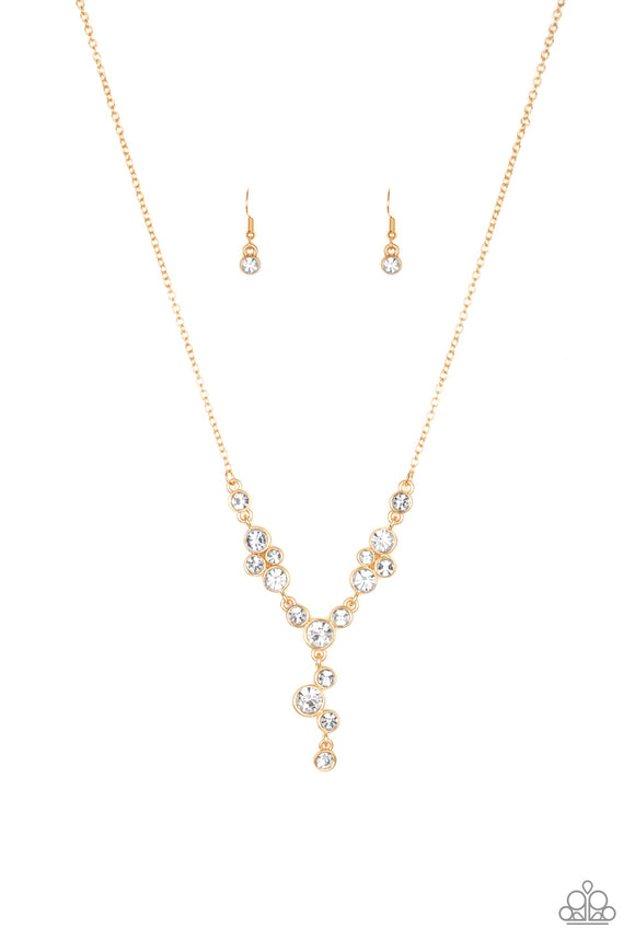 Five-Star Starlet Gold Necklace - Paparazzi Accessories - jazzy-jewels-gems
