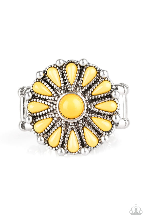 Poppy Pop-tastic Yellow Ring - Paparazzi Accessories