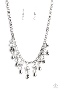 Travelling Trendsetter White Necklace - Paparazzi Accessories - jazzy-jewels-gems
