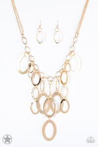 A Golden Spell Gold Necklace - Paparazzi Accessories - jazzy-jewels-gems