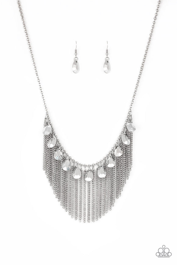 Bragging Rights Silver Necklace - Paparazzi Accessories