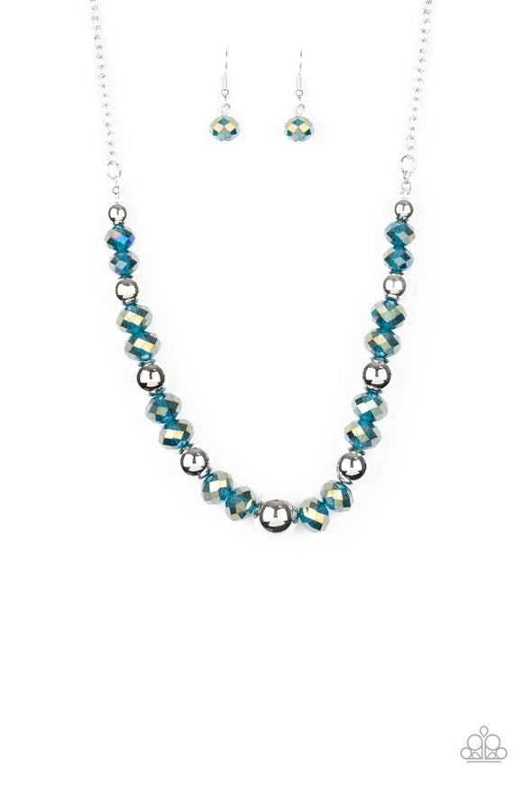 Jewel Jam Blue Necklace - Paparazzi Accessories