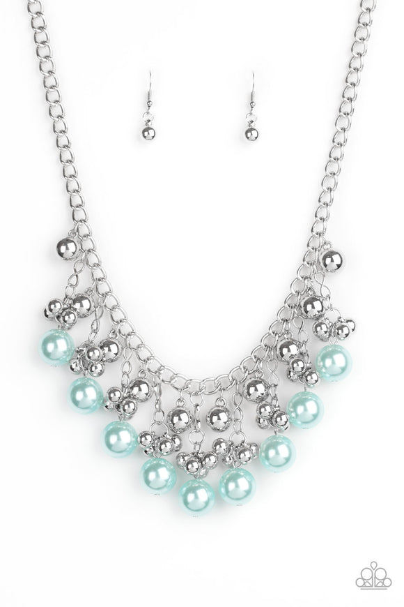 Pearl Appraisal Blue Necklace - Paparazzi Accessories