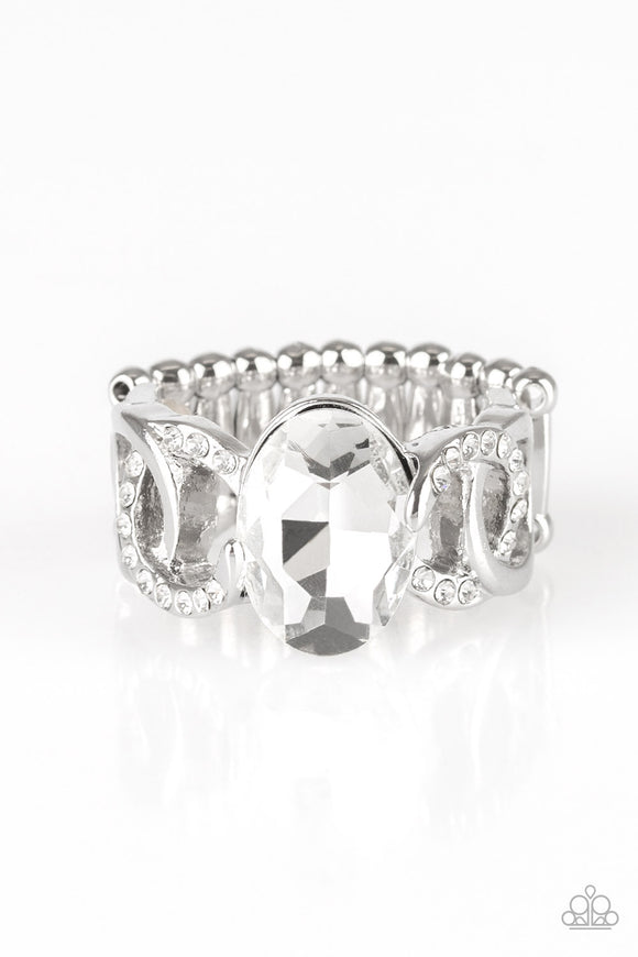 Supreme Bling White Ring - Paparazzi Accessories