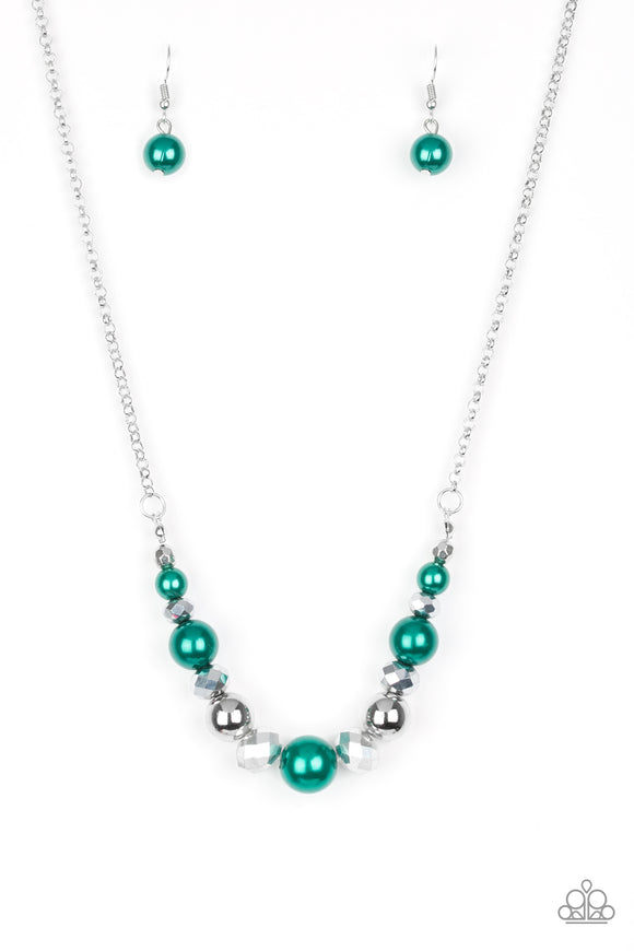 The Big-Leaguer Green Necklace - Paparazzi Accessories