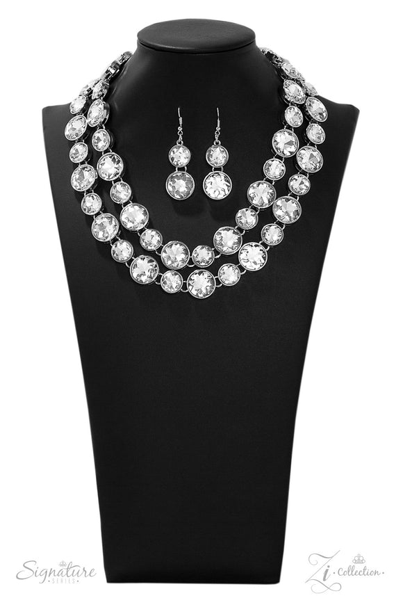 The Natasha Zi Collection 2019 Silver Necklace - Paparazzi Accessories
