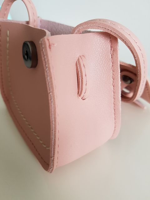 Girls Mini Mindy Pink Bow PU Leather Cross Body and Shoulder Bag