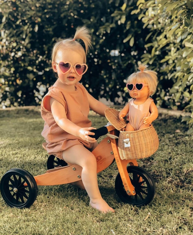 The Eyes of Rosie : Heart Blush Pink Frame Purple Gradient Lens Sunglasses (1-8Yrs)