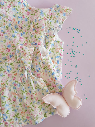 Baby Girls Annabelle Floral Cotton Top and Bloomer 2 Piece Set (Design in Australia)