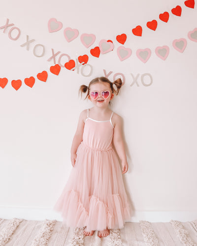 The Eyes of Rosie : Heart Blush Pink Frame Purple Gradient Lenses Sunglasses (1-8Yrs)