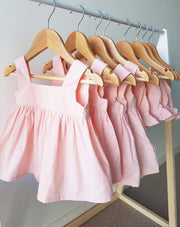 Baby Girls Alice Peach Cotton Top and Bottom 2 Piece Set