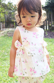 Baby Girls Amelia Floral Cotton Top and Bloomer 2 Piece Set (Design in Australia)