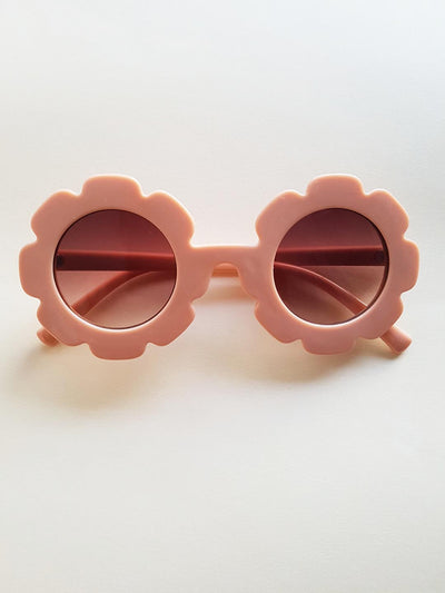 The Eyes of Bowie : Soft Peach Flower Frame Brown Gradient Lens Sunglasses (1-8Yrs)